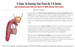 Penis Enlargement Remedy Exposed In This Review